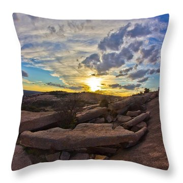 Sunset At Enchanted Rock State Natural Area Throw Pillow