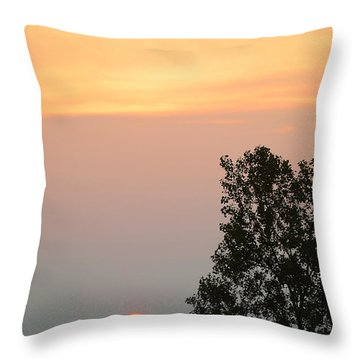 Sunset At Forks Of The Credit Park Throw Pillow