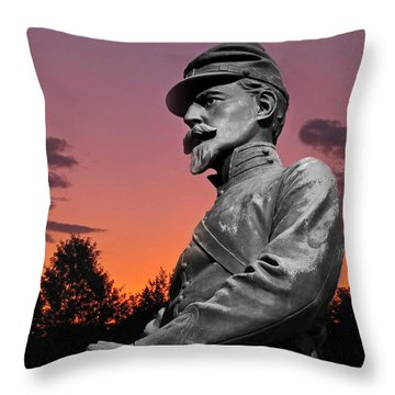 Sunset At Gettysburg  Throw Pillow