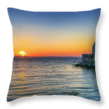 Sunset At Indian Harbour Throw Pillow by Ken Morris