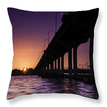 Sunset At Jensen Beach Throw Pillow