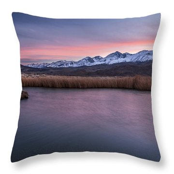 Sunset At Klondike Lake Throw Pillow by Cat Connor