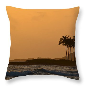 Sunset At Koloa Throw Pillow