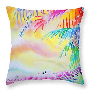 Sunset At Kuto Beach Throw Pillow