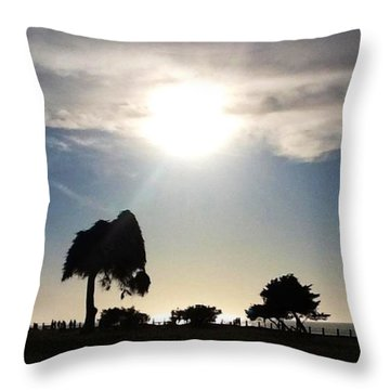 Throw Pillow featuring the photograph Sunset At La Jolla by Susan Garren