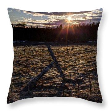 Sunset At Landfall Throw Pillow