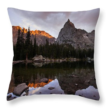 Sunset At Lone Eagle Throw Pillow by Steven Reed