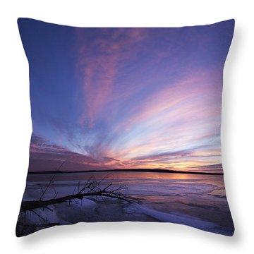 Sunset At Lovewell Lake Kansas Throw Pillow