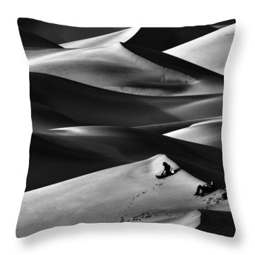 Sunset At Mesquite Flats Throw Pillow