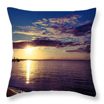 Sunset At Monkey Mia Throw Pillow