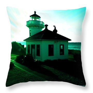 Sunset At Mukilteo Lighthouse Park  Throw Pillow by Eddie Eastwood