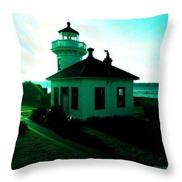 Sunset At Mukilteo Lighthouse Park  Throw Pillow