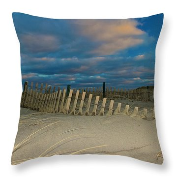 Sunset At Nauset Beach Cape Cod Throw Pillow