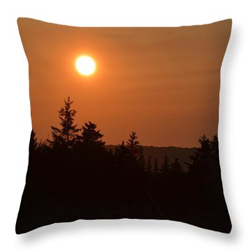 Sunset At Owl's Head Throw Pillow