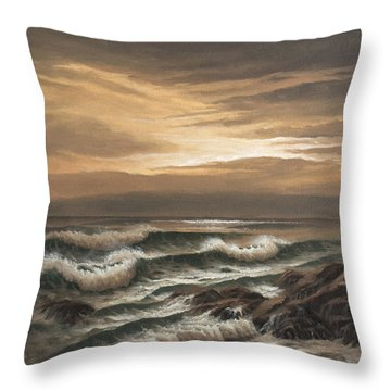 Sunset At Pacific Grove Throw Pillow