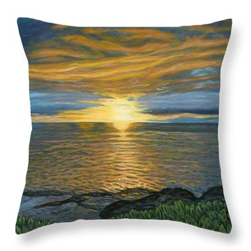 Sunset At Paradise Cove Throw Pillow by Michael Allen Wolfe