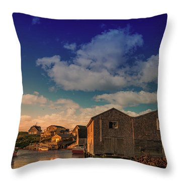Sunset At Peggy's Cove 05 Throw Pillow