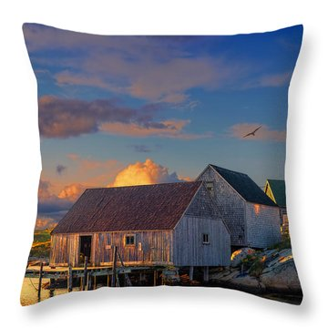 Sunset At Peggy's Cove 06 Throw Pillow