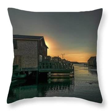 Sunset At Peggy's Cove II Throw Pillow by Ken Morris