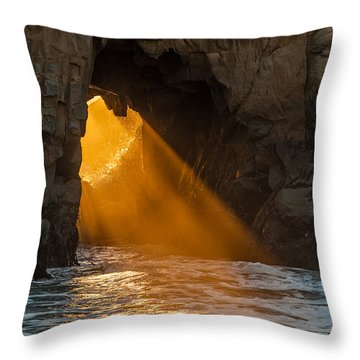 Sunset At Pfeiffer Beach Throw Pillow by George Buxbaum