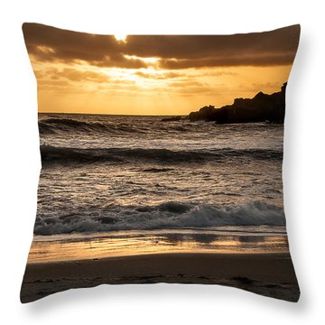 Throw Pillow featuring the photograph Sunset At Pfeiffer State Beach by Lee Kirchhevel
