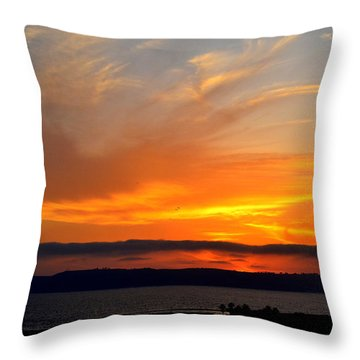 Sunset At Point Loma From Coronado California Throw Pillow