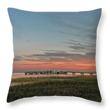 Sunset At Priest Lake Throw Pillow by Steven Michael