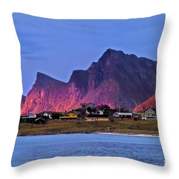 Sunset At Ramberg Throw Pillow by Heiko Koehrer-Wagner
