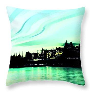 Sunset At Richmond Beach Washington Throw Pillow by Eddie Eastwood