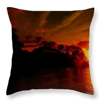 Sunset At Salem Willows Throw Pillow