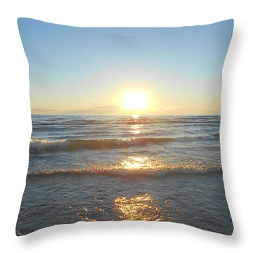 Sunset At Sauble Beach  Throw Pillow