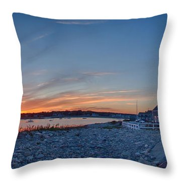 Sunset At Scituate Light Throw Pillow by Jeff Folger