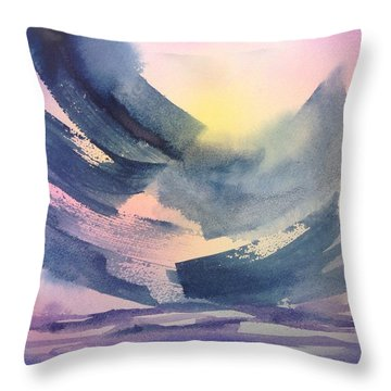 Sunset At Shaw Throw Pillow by Tara Moorman