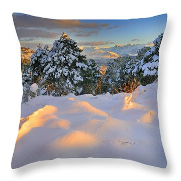 Sunset At Sierra Nevada Throw Pillow by Guido Montanes Castillo