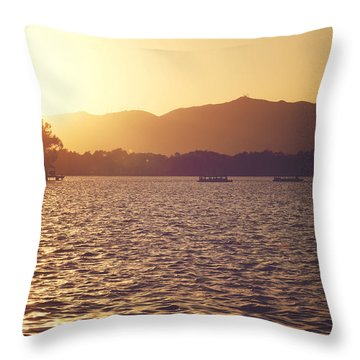 Sunset At Summer Palace Throw Pillow by Yew Kwang