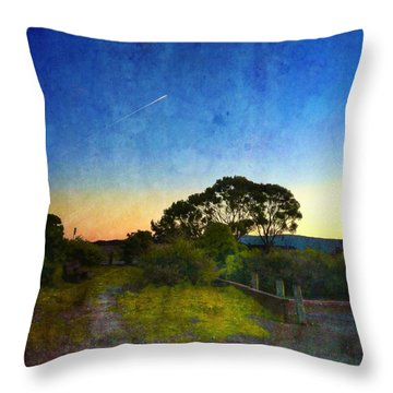 Sunset At The Baylands Throw Pillow
