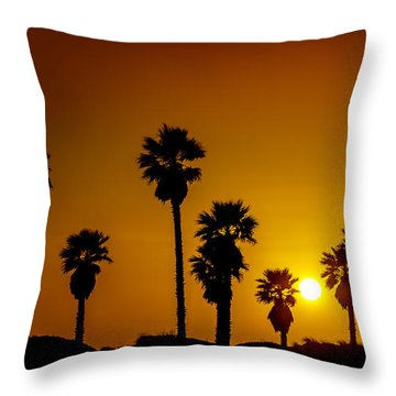 Sunset At The Beach Large Canvas Art, Canvas Print, Large Art, Large Wall Decor, Home Decor Throw Pillow