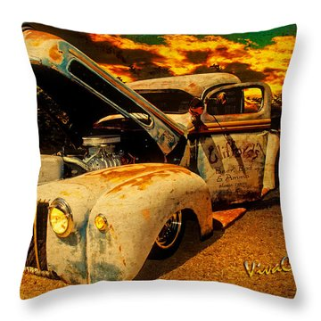 Sunset At The Blanco River Throw Pillow by Chas Sinklier