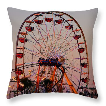 Sunset At The Fair Throw Pillow by David Lee Thompson
