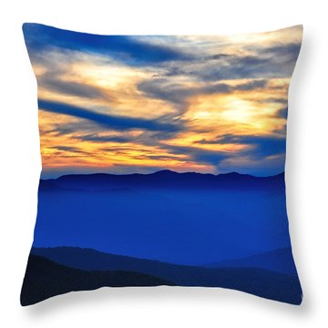 Sunset At The Max Throw Pillow