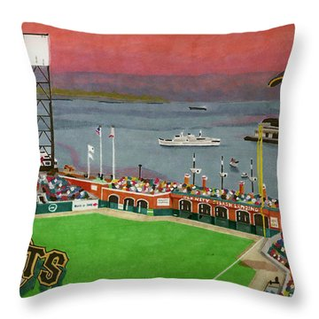 Sunset At The Park Throw Pillow