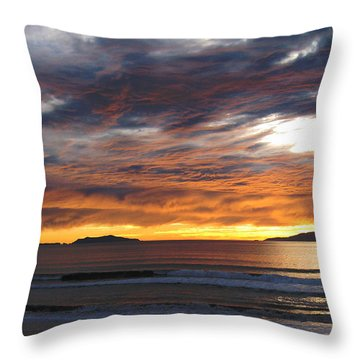 Sunset At The Shores Throw Pillow