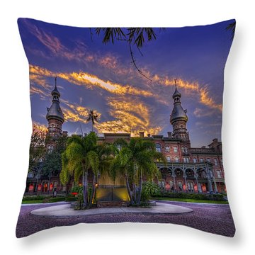 Sunset At U.t. Throw Pillow by Marvin Spates