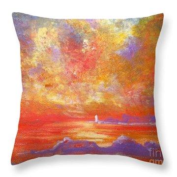 Sunset At Wingershaek Beach Throw Pillow