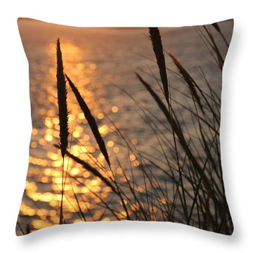 Throw Pillow featuring the photograph Sunset Beach by Athena Mckinzie