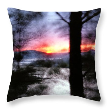 Throw Pillow featuring the photograph Sunset Atop Windy Emerald Park by Jason Politte