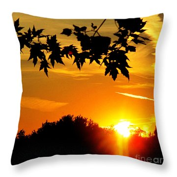 sunset AUSTIN Throw Pillow by Tina M Wenger
