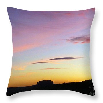 Sunset Autumn Sedona Throw Pillow
