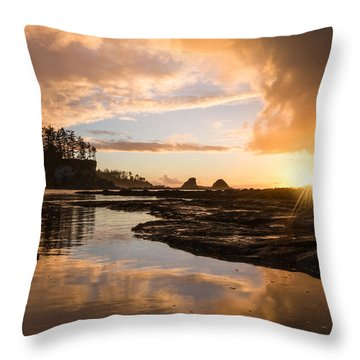 Sunset Bay Reflections Throw Pillow by Patricia Davidson
