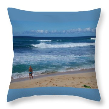 Sunset Beach Throw Pillow by Kenneth Cole